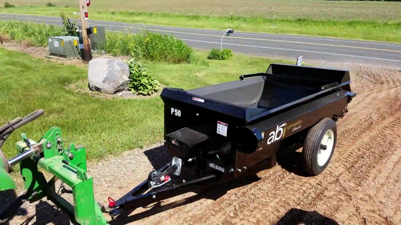 Best Small Farm Manure Spreader - YouTube