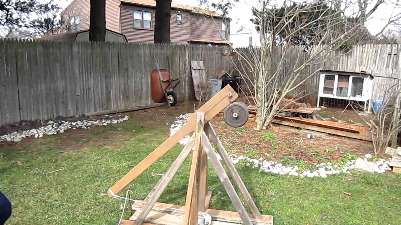 how to build a trebuchet youtube