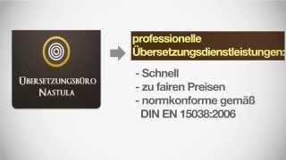 Unser Übersetzungsbüro in Dortmund - Übersetzungsbüro Nastula(Es handelt sich hierbei um eine Video über unsere Dienstleistungen als Übersetzungsbüro in Dortmund. Das Übersetzungsbüro Nastula ist seit über 25 Jahren ..., 2014-07-11T12:36:32.000Z)
