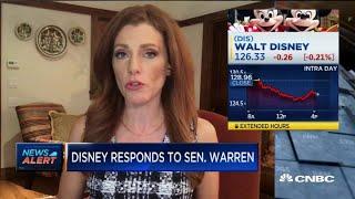 Disney responds to Sen. Elizabeth Warren's criticism: Her letter contains inaccuracies