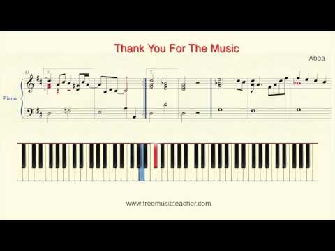 "How To Play Piano: Abba ""Thank You For The Music"" Piano Tutorial By Ramin Yousefi"