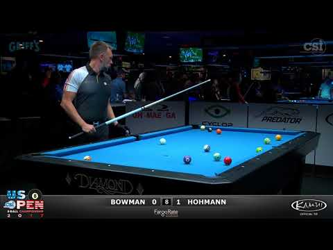 2017 US Open 8-Ball: Bowman vs Hohmann