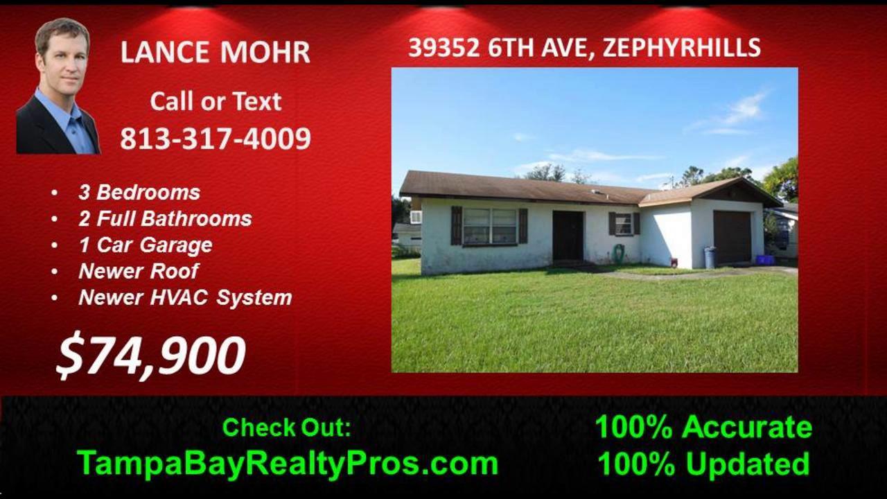 Zephyrhills Pool Homes For Sale