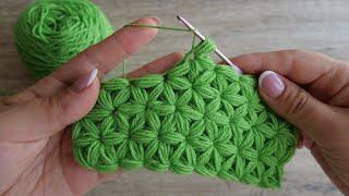 Узор крючком «Звездочки» | Crochet