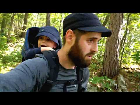 Hiking with Griffin in Samuel de Champlain Provincial Park