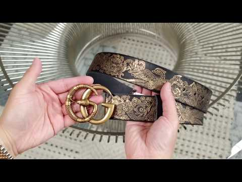 Gucci GG Marmont Men's Leather Belt W/Serpent: Overview & Try-on