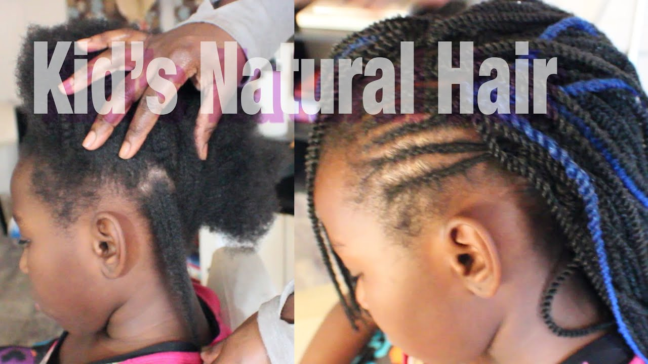 Kid S Natural Hair Tutorial Crochet Braid Protective Styling