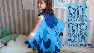 Tutorial Passo a passo da  Fantasia Infantil Asa Arara Azul Filme RIO em Feltro (Full HD)