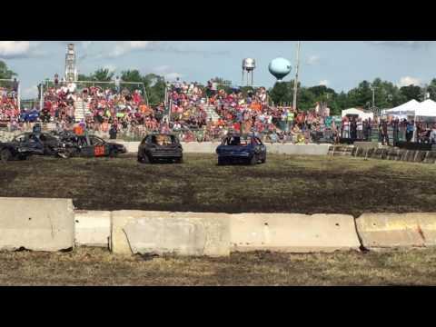 6-18-17 Sangamon County Fair Demo Derby Compacts