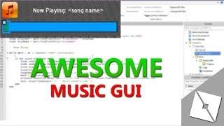 Music GUI [SCE]   ROBLOX TUTORIAL