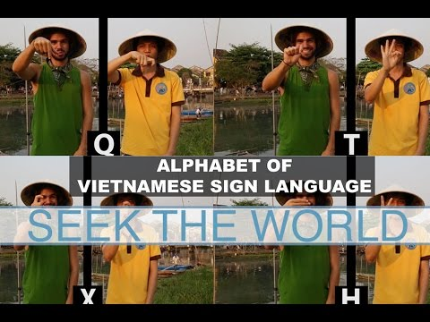The Alphabet Of Vietnamese Sign Language Northern Youtube