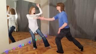 Парный танец без схем - Денис Сражаев и Евгения Барменкова +