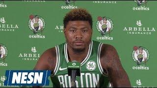 Marcus Smart 2018 Boston Celtics Media Day Press Conference