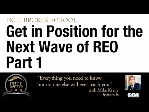 Free Broker School: Get ready for the next wave of REO properties - Part 1 - Housing Bubble 2016