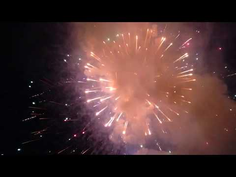Newton MA fireworks, July 4, 2017