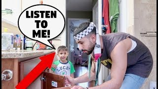 IGNORING 3 YEAR OLD BABY FOR 24 HOURS!!! **PRANK** thumbnail