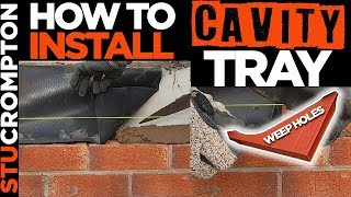 How To do a Cavity Tray Over Lintel - Bricklaying Guide
