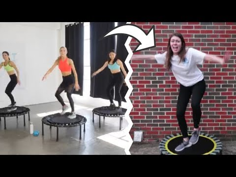I Tried a Trampoline Workout for the First Time thumbnail