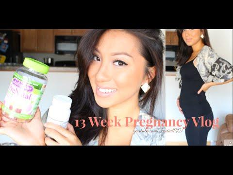13 Week Pregnancy Vlog: Prenatal Pills + Sleep + Body Changes