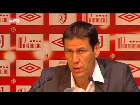 Interview de Rudi garcia apres le premier match du losc dans son Grand Stade