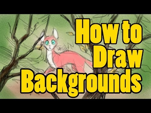 How to Draw Background Tutorial Tuesday