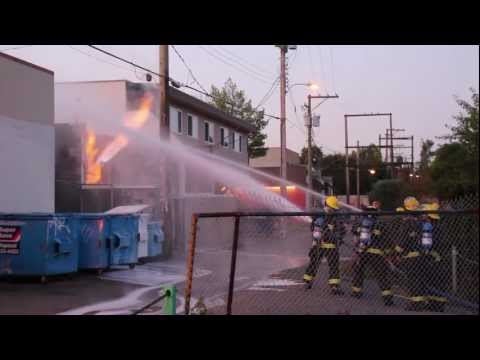 VFD battle a gas pipe fire at a Vancouver restaurant