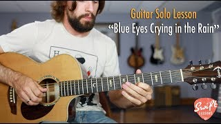Guitar Solo Lesson - Willie Nelson Blue Eyes Crying in the Rain