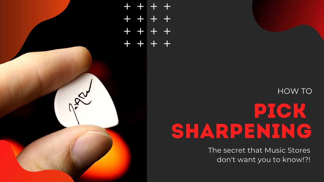How to Sharpen Your Guitar Picks and Make Them Last Longer!