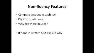 Analysing Speech - ELLA 2 (English Language and Literature) AS Level