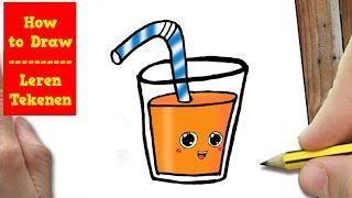 HOE TEKEN JE GLAS DRINKEN?   HOW TO DRAW SODA POP KAWAI