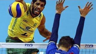 【バレーボール】絶対とれない!ブラジル選手のバラセ・デ・ソウザのスパイクを見てくれ【スーパープレイ】