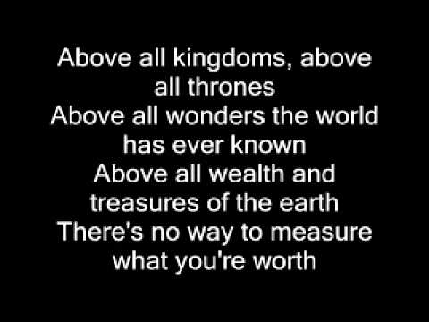 Above all (Crucified) with Lyrics