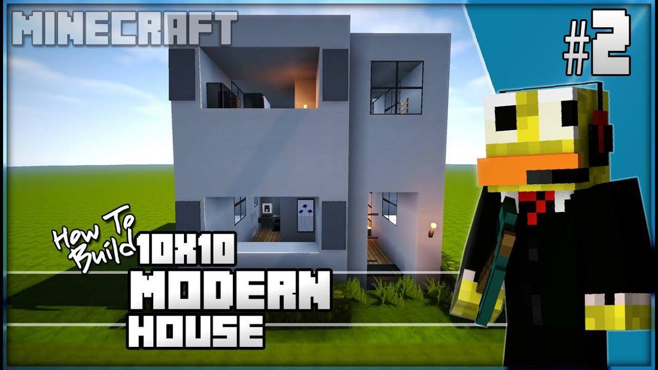 Minecraft house tutorial 10x10 easy modern house 2 1 8 for Minecraft modern house download 1 8