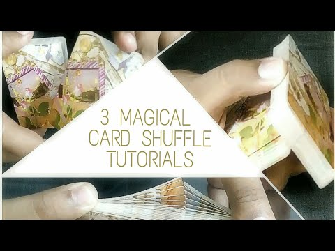 3 Magical card shuffles tutorials(charlier cut,swivel cut,faro shuffle).