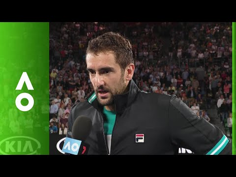 Marin Čilić on court interview (QF) | Australian Open 2018