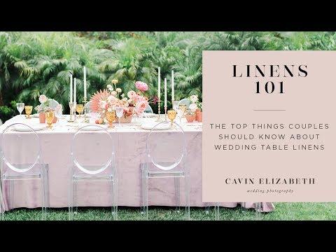 Wedding Reception Linens 101: What Brides Should Know