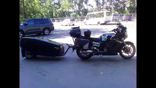 Обзор самодельного мотоприцепа. Trailer for motorcycle