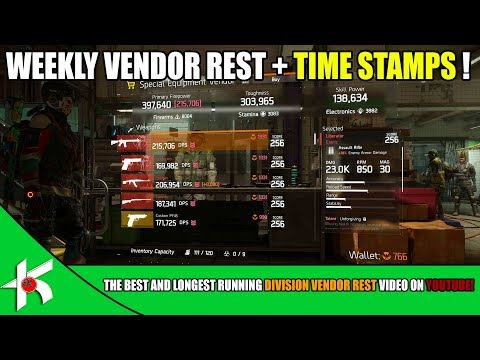 The Division | VENDOR RESET - NOV 25th 2017 + TIME STAMP