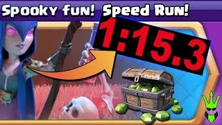 HOW FAST CAN WE BEAT IT? - Spooky Fun Event Gameplay - Clash of Clans - TH9 Free Gems!