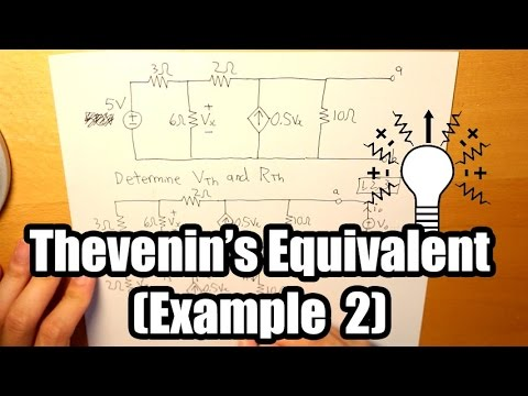 Thevenin's Equivalent Example (Two Independent Sources w/ a Dependent Source)