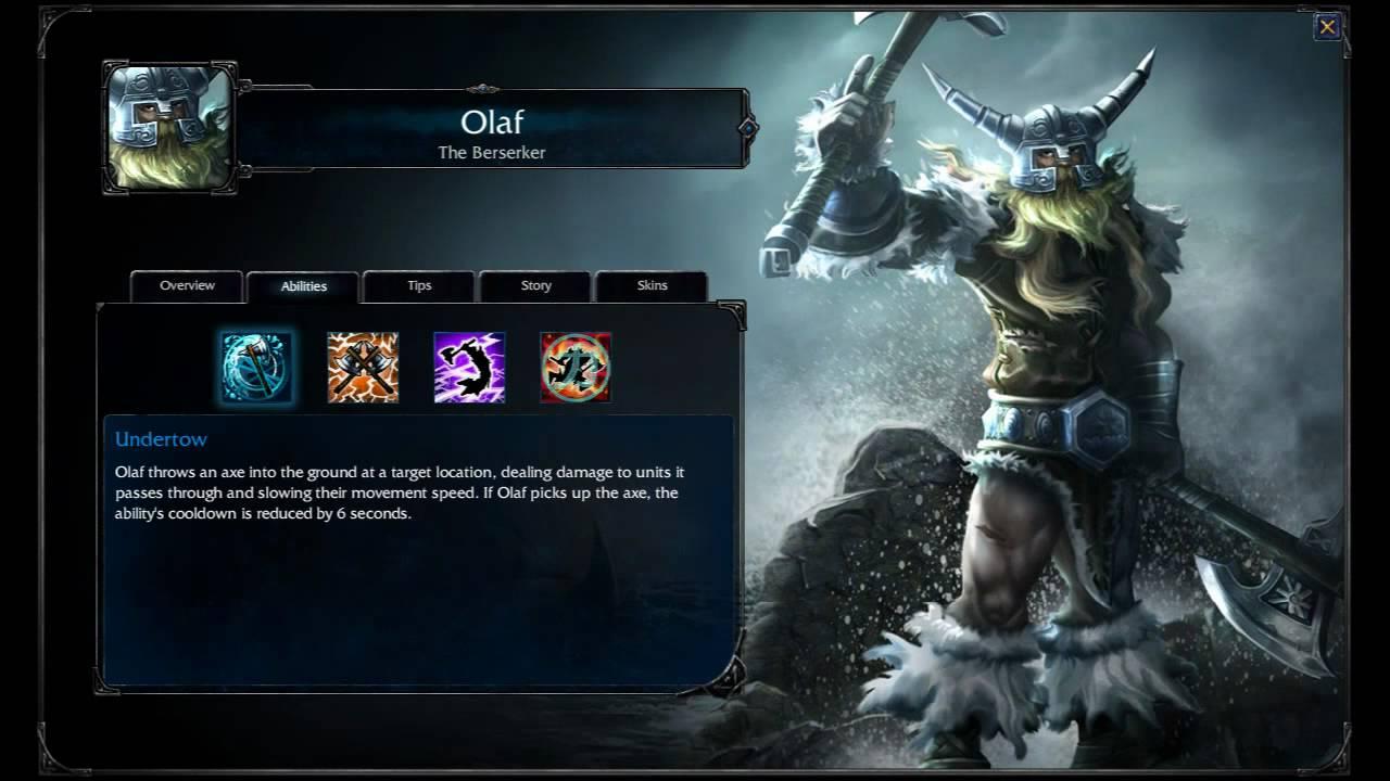 Olaf League Of Legends