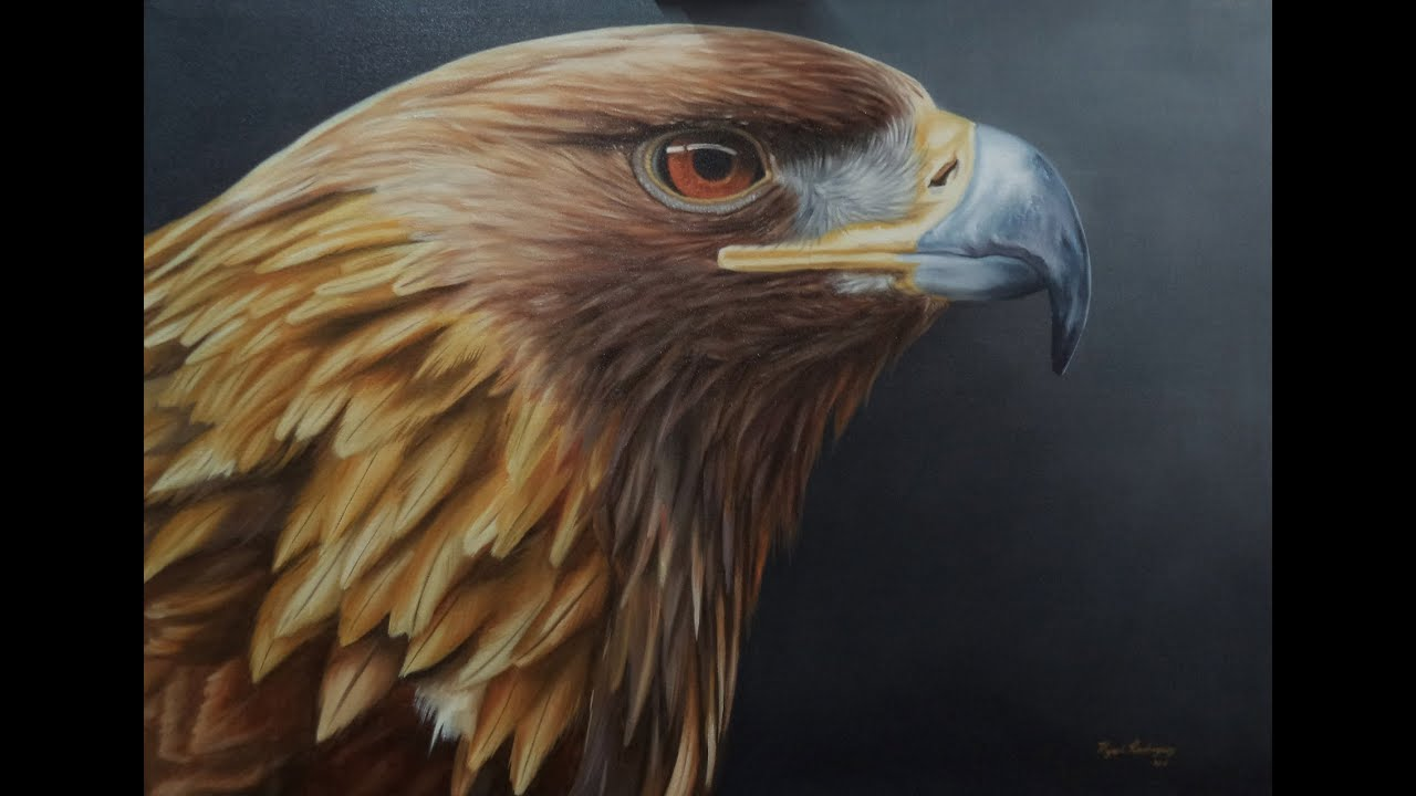 Pintura al óleo (Águila) - YouTube