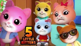 Пять маленьких котенок | детские рифмы | Котенок песня | Five Little Kitten | Nursery Rhyme