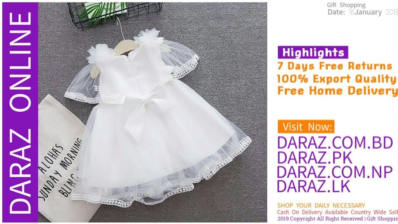 9a8229c6e2549 Baby Dress Summer Collection 07 Daraz Online - YouTube