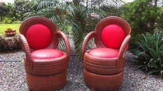 Como transformar pneus velhos em poltrona e cadeira – Recicle
