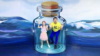 تستمتع صوفيا وأبي بيوم ممتع في متحف الأوهام وحديقة الديناصورات
