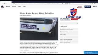 What Does a Bumper Sticker do? Self Defense?