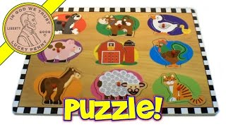 Barnyard Animals Sound Shapes Target Brand Wood Puzzle Baby Toy Kids Toy Reviews