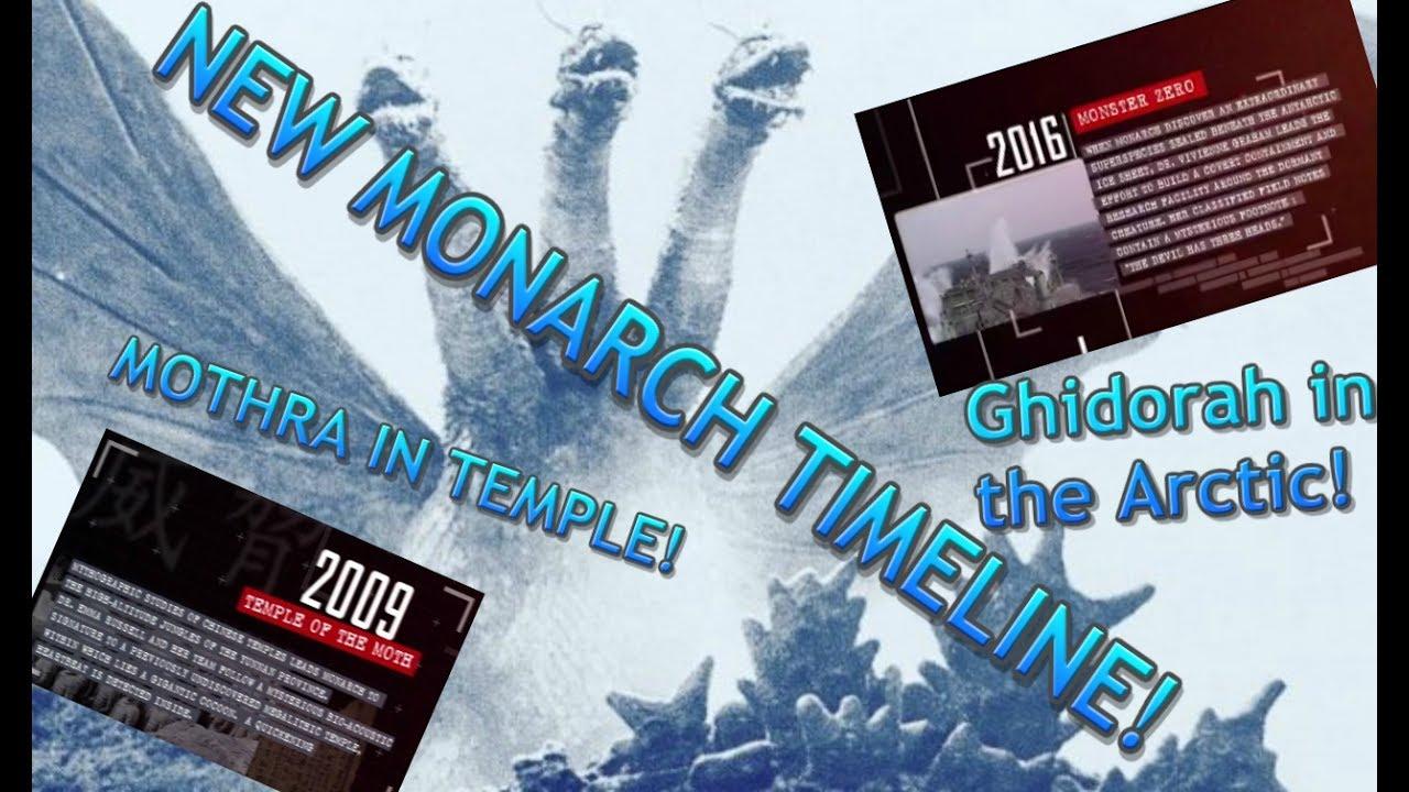 godzilla 2 new monarch timeline ghidorah in arctic mothra temple