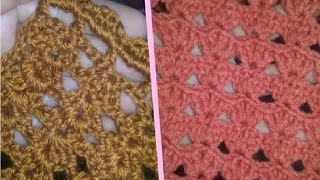 ♥ Вязание крючком ✄ узор для шарфа ✄ обвязка пледа ♥